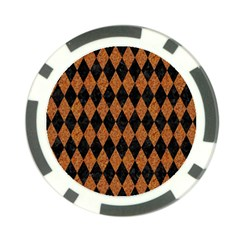 Diamond1 Black Marble & Rusted Metal Poker Chip Card Guard (10 Pack)