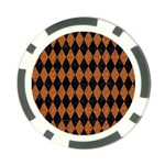 DIAMOND1 BLACK MARBLE & RUSTED METAL Poker Chip Card Guard (10 pack) Back