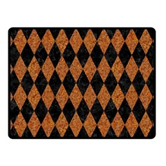 Diamond1 Black Marble & Rusted Metal Fleece Blanket (small) by trendistuff