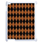 DIAMOND1 BLACK MARBLE & RUSTED METAL Apple iPad 2 Case (White) Front