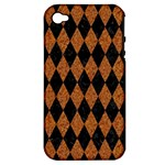 DIAMOND1 BLACK MARBLE & RUSTED METAL Apple iPhone 4/4S Hardshell Case (PC+Silicone)