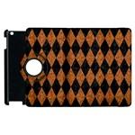 DIAMOND1 BLACK MARBLE & RUSTED METAL Apple iPad 3/4 Flip 360 Case