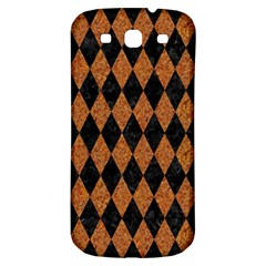 Diamond1 Black Marble & Rusted Metal Samsung Galaxy S3 S Iii Classic Hardshell Back Case by trendistuff