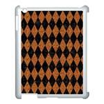 DIAMOND1 BLACK MARBLE & RUSTED METAL Apple iPad 3/4 Case (White)