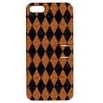 DIAMOND1 BLACK MARBLE & RUSTED METAL Apple iPhone 5 Hardshell Case with Stand