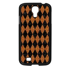 Diamond1 Black Marble & Rusted Metal Samsung Galaxy S4 I9500/ I9505 Case (black) by trendistuff