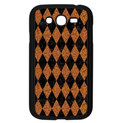 Diamond1 Black Marble & Rusted Metal Samsung Galaxy Grand Duos I9082 Case (black) by trendistuff