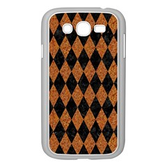 Diamond1 Black Marble & Rusted Metal Samsung Galaxy Grand Duos I9082 Case (white) by trendistuff