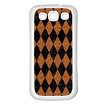 DIAMOND1 BLACK MARBLE & RUSTED METAL Samsung Galaxy S3 Back Case (White)