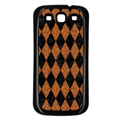 Diamond1 Black Marble & Rusted Metal Samsung Galaxy S3 Back Case (black)
