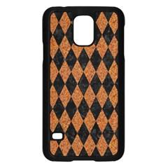 Diamond1 Black Marble & Rusted Metal Samsung Galaxy S5 Case (black)