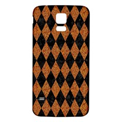 Diamond1 Black Marble & Rusted Metal Samsung Galaxy S5 Back Case (white) by trendistuff