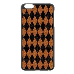 Diamond1 Black Marble & Rusted Metal Apple Iphone 6 Plus/6s Plus Black Enamel Case