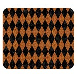 DIAMOND1 BLACK MARBLE & RUSTED METAL Double Sided Flano Blanket (Small)