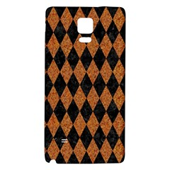 Diamond1 Black Marble & Rusted Metal Galaxy Note 4 Back Case by trendistuff