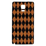 DIAMOND1 BLACK MARBLE & RUSTED METAL Galaxy Note 4 Back Case Front