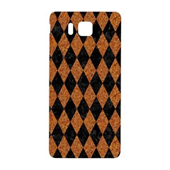 Diamond1 Black Marble & Rusted Metal Samsung Galaxy Alpha Hardshell Back Case by trendistuff