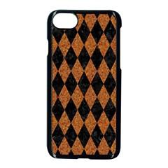 Diamond1 Black Marble & Rusted Metal Apple Iphone 7 Seamless Case (black)