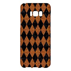 Diamond1 Black Marble & Rusted Metal Samsung Galaxy S8 Plus Hardshell Case  by trendistuff