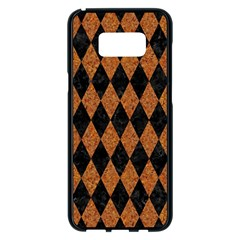 Diamond1 Black Marble & Rusted Metal Samsung Galaxy S8 Plus Black Seamless Case by trendistuff