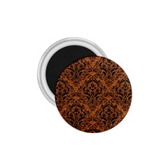 DAMASK1 BLACK MARBLE & RUSTED METAL 1.75  Magnets