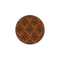 Damask1 Black Marble & Rusted Metal Golf Ball Marker (4 Pack) by trendistuff