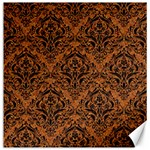 DAMASK1 BLACK MARBLE & RUSTED METAL Canvas 16  x 16   16 x16 Canvas - 1