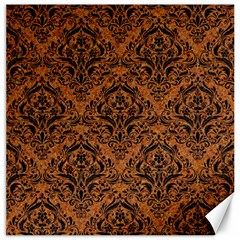 Damask1 Black Marble & Rusted Metal Canvas 20  X 20