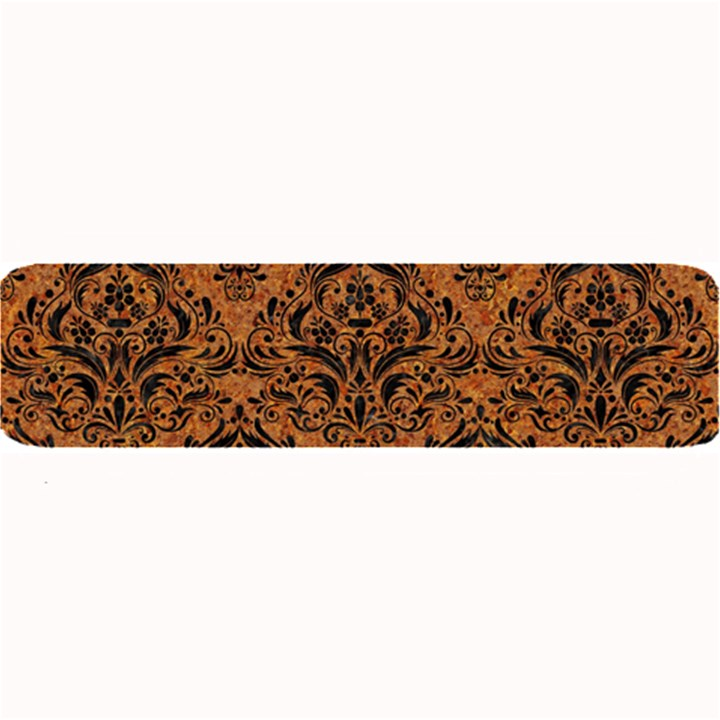 DAMASK1 BLACK MARBLE & RUSTED METAL Large Bar Mats