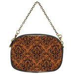 DAMASK1 BLACK MARBLE & RUSTED METAL Chain Purses (One Side)  Front