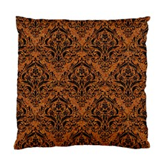 DAMASK1 BLACK MARBLE & RUSTED METAL Standard Cushion Case (Two Sides)
