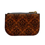 DAMASK1 BLACK MARBLE & RUSTED METAL Mini Coin Purses Back