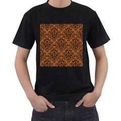 DAMASK1 BLACK MARBLE & RUSTED METAL Men s T-Shirt (Black)