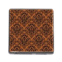 Damask1 Black Marble & Rusted Metal Memory Card Reader (square) by trendistuff