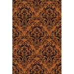 DAMASK1 BLACK MARBLE & RUSTED METAL 5.5  x 8.5  Notebooks Front Cover