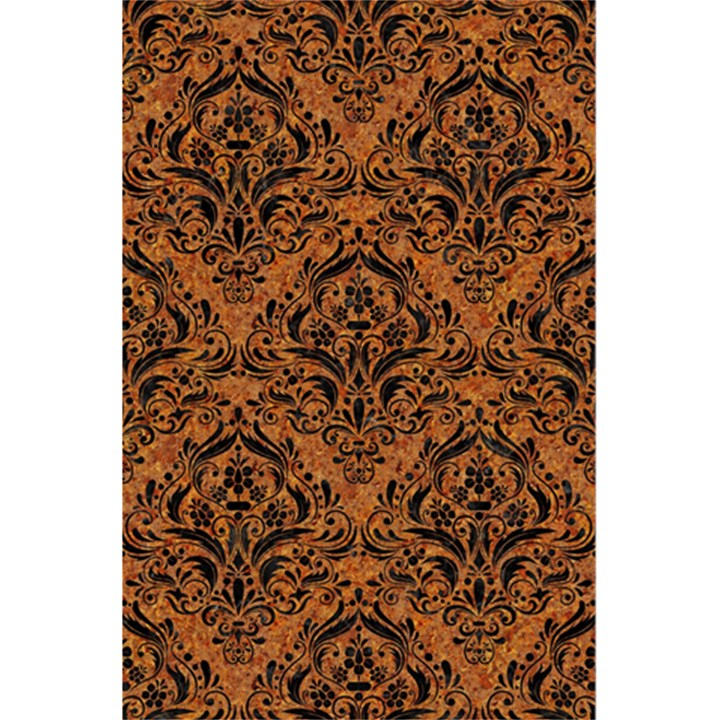 DAMASK1 BLACK MARBLE & RUSTED METAL 5.5  x 8.5  Notebooks
