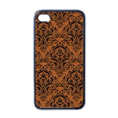 Damask1 Black Marble & Rusted Metal Apple Iphone 4 Case (black) by trendistuff