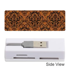 Damask1 Black Marble & Rusted Metal Memory Card Reader (stick)  by trendistuff