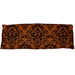 DAMASK1 BLACK MARBLE & RUSTED METAL Body Pillow Case (Dakimakura) Body Pillow Case