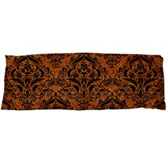Damask1 Black Marble & Rusted Metal Body Pillow Case Dakimakura (two Sides)