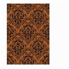 Damask1 Black Marble & Rusted Metal Large Garden Flag (two Sides)