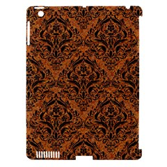 DAMASK1 BLACK MARBLE & RUSTED METAL Apple iPad 3/4 Hardshell Case (Compatible with Smart Cover)