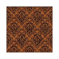 Damask1 Black Marble & Rusted Metal Acrylic Tangram Puzzle (6  X 6 ) by trendistuff