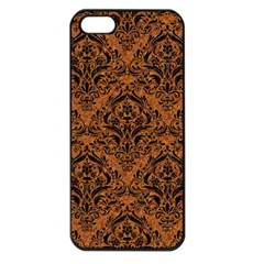 Damask1 Black Marble & Rusted Metal Apple Iphone 5 Seamless Case (black) by trendistuff