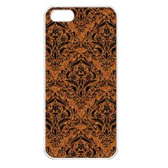 Damask1 Black Marble & Rusted Metal Apple Iphone 5 Seamless Case (white) by trendistuff