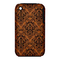 Damask1 Black Marble & Rusted Metal Iphone 3s/3gs by trendistuff