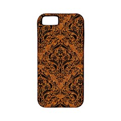 Damask1 Black Marble & Rusted Metal Apple Iphone 5 Classic Hardshell Case (pc+silicone) by trendistuff