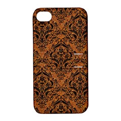 DAMASK1 BLACK MARBLE & RUSTED METAL Apple iPhone 4/4S Hardshell Case with Stand