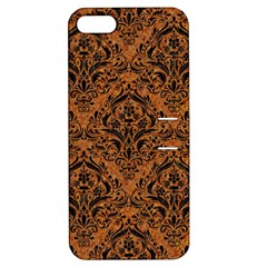 Damask1 Black Marble & Rusted Metal Apple Iphone 5 Hardshell Case With Stand by trendistuff