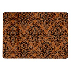 Damask1 Black Marble & Rusted Metal Samsung Galaxy Tab 10 1  P7500 Flip Case